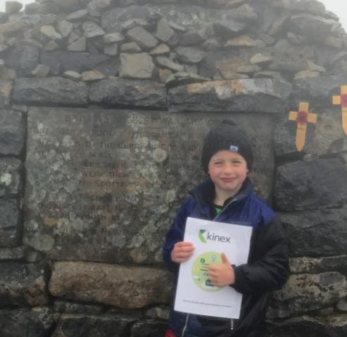 KINEX, A VERASTAR COMPANY SPONSOR 7 YEAR OLD ON HIS BIGGEST HIKING CHALLENGE YET
